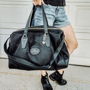 Juicy Couture Black Duffle Bag Travel Large Chain